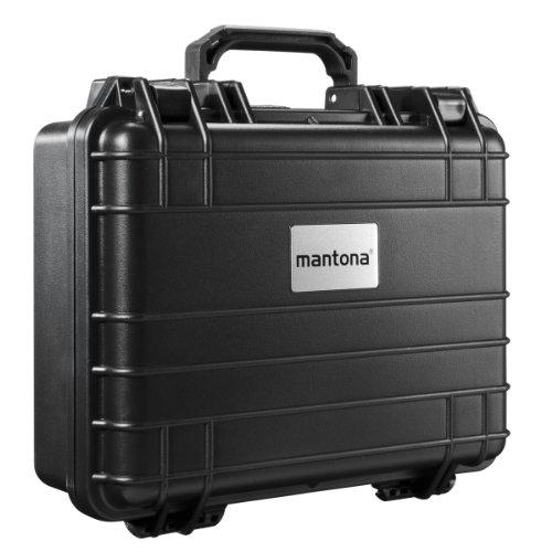 Mantona - Maletín de exteriores para cámaras de fotos (tamaño mediano, resistente...