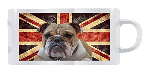 Bulldog ON Union Jack WRAP Around - Tazza in ceramica cambia calore, 11 oz