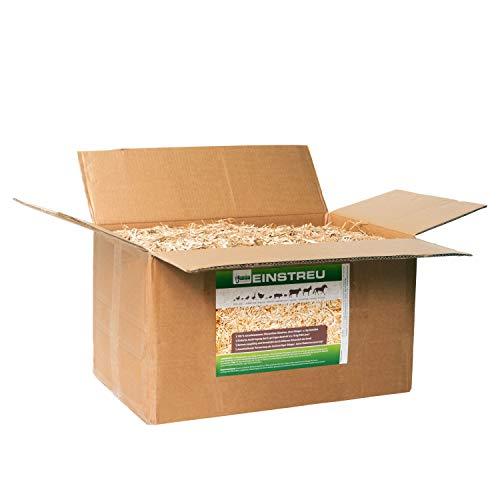 Jumbogras® Kleintier-Einstreu aus Miscanthus/Elefantengras/Chinagras-Häcksel, saugfähige Häckselgut-Streu, günstige Stroh- u. Sägespäne/Holzspäne-Alternative für sauberen Käfig (20-Liter-Karton)