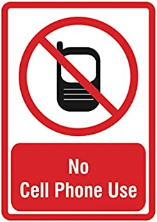 No Cell Phone Sign - Do Not Use Cellular Phones - 6 Pack