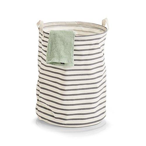 Zeller Wäschesammler, Creme/Grau, Durchmesser 38 x 48 cm