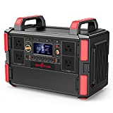 Rockpals Portable Power Station 1000W, 1048Wh/327600mAh Solar Generator with 4x110V...