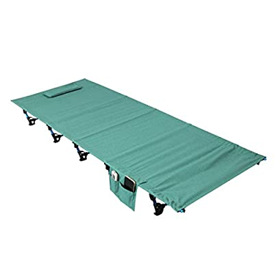 Ultralight Portable Folding Single Camp Bed Travel Cot Tent Bed Aluminium Alloy Metal Frame Outdoor Camping Hiking Fishing Beds with Storage Bag for Adult or Kids