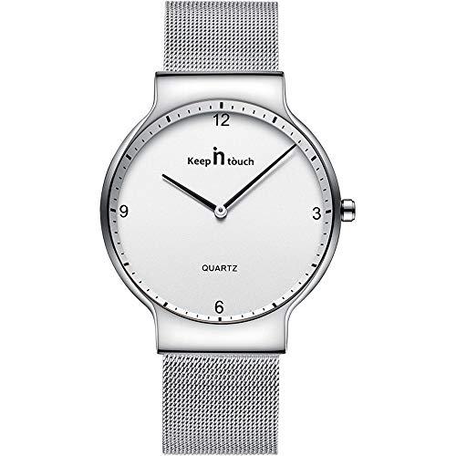 Infinito U-Reloj Pareja Reloj de Cuarzo Ultrafino para Hombre Moda Relojes de Pulsera Casual Impermeable de Acero Inoxidable Idea Regalo para Pareja