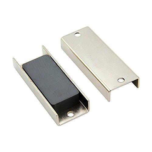 Magnet Expert 69 x 27 x 11.8 mm d'épaisseur (x trou de 5 mm) Ferrite canal Aimant - 10 kg Pull (paquet de 10)