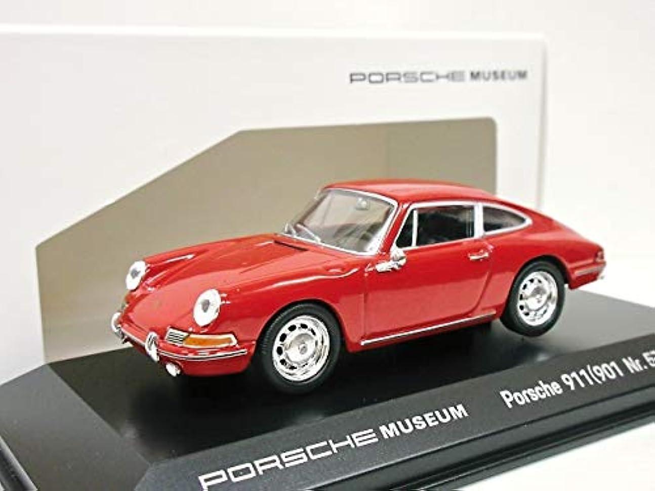 保持するロバマニフェストPORSCHE MUSEUM特注 1/43 ポルシェ901 ナロー (レッド) 1964