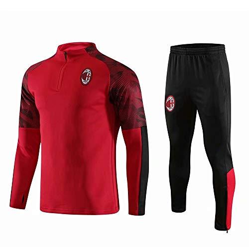keUiy Tuta da Calcio Personalizzata Set Nome Personalizzato Numero Maniche Lunghe Calzamaglia Sportiva Pantaloni da Jogging Pantaloni Tuta da Allenamento per Giovani Adulti