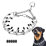 Dog Prong Collar, Classic Stainless Steel Choke Pinch Dog Chain Collar with Comfort