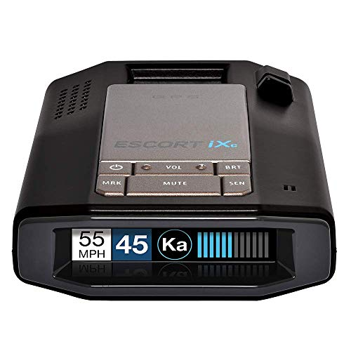 Escort IXC Laser Radar Detector - Extended Range, WiFi Connected Car Compatible, Auto Learn Protection, Voice Alerts, Multi Color Display