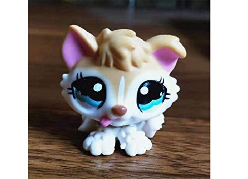 WooMax Littlest Pet Shop Juguete LPS Husky Dog 1013 (marrón, ojos azules) – La figura de la colección SMA LPS para niños y niñas regalo