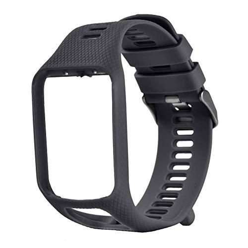 Silikon-Ersatz-Armband für Tomtom Runner 2/3 Spark 3 / Adventurer/Golfer 2 GPS-Uhr Smart Watch Weiche, atmungsaktive Sportarmband-Zubehör für Männer und Frauen