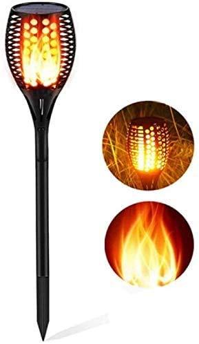 Lampe solaire de jardin 96 LED crépuscule jusqu'à la matière, torche de jardin solaire, lampes solaires de jardin IP65 étanches pour extérieur