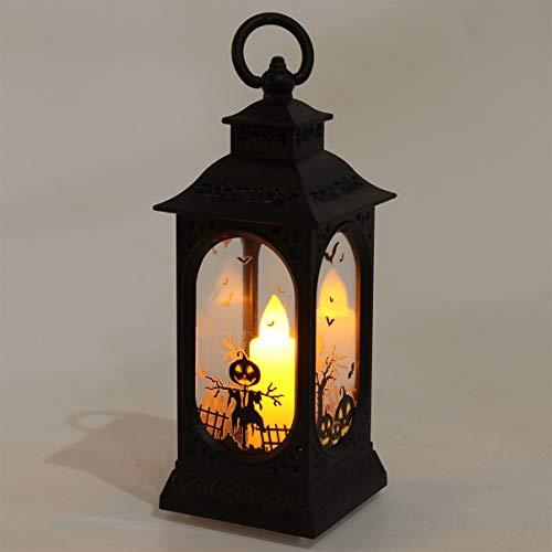 OSALADI Halloween-Dekorationen Kürbis-Kerzenlaterne Batteriebetriebenes Kürbis-Windlicht Hängendes Halloween-Nachtlicht Partybevorzugung für Halloween-Spukhaus-Heimdekoration