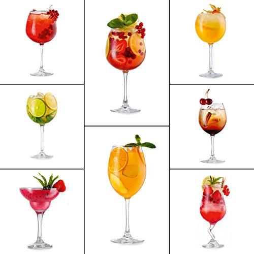 Eurographics Deko Set, Kunststoff, Magnete Tasty Cocktails, 20.5 x 11.5 x 1.8 cm
