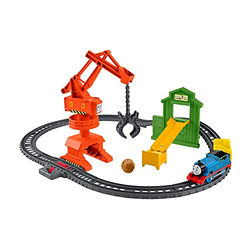 Il Trenino Thomas- Trackmaster Playset Pista Cantiere della Gru Giocattolo per Bambini 4+ Anni, GHK83