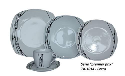 Topkapi Premier Prix Serie – 30-TLG Porzellan Tafelservice Petra TK-1014, für 6 Personen