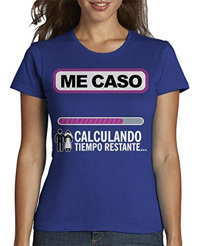 latostadora - Camiseta Despedida de Soltera para Mujer Azul Royal XL