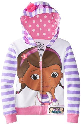 Disney Toddler Girls' Doc Mcstuffins Hoodie, White Multi, 2T