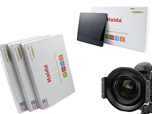 Haida Optical Neutral 3er Graufilter Set für Tamron SP 15-30mm f2.8 Di VC USD ( G2) und HD PENTAX-D FA 15-30mm F2.8 ED SDM WR - Vollmetall Filterhalter mit 3 verschiedenen ND Filtern in der Größe 150 mm x 150 mm - ND0.9 (8x) / ND1.8 (64x) / ND3.0 (1000x)
