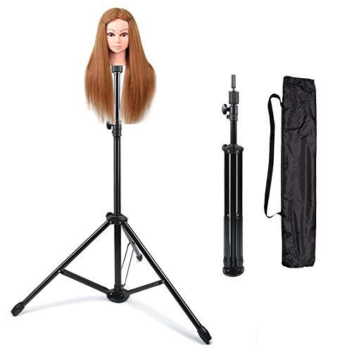 JFUNE supporto testina parrucchiere capelli treppiede parrucca formazione supporto della testina di stampo stand, Mannequin Head Stand with Pedal (Nuova versione)