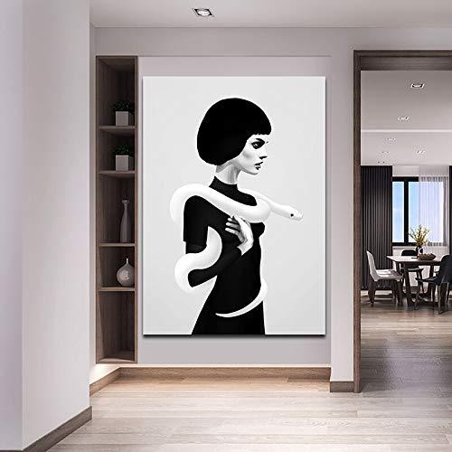 Geiqianjiumai Modern Sweetest Canvas Art Poster und Drucke Home Decoration Wohnzimmer Graphic Image Frameless Painting 40x60cm