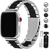 Fullmosa Für Apple Watch Armband Series 6 38mm/40mm, Rostfreier Edelstahl Ersatzband für...