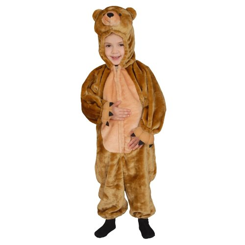 Dress Up America Déguisement doudou doux petit ours brun