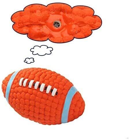 YYhkeby Pet Ausbildung Spielzeug Durable Latex Pet Squeak Toy Rugby Style großen Hund Interactive Toy Chew Hund Spielzeug L Jialele