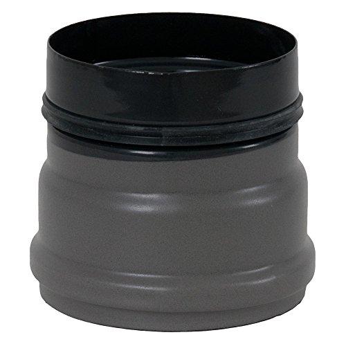 MULDENTHALER Ofenanschlussstück für Pelletofen, ø 80 mm, mit 2 Sicken, Steckrichtung zum Schornstein grau (emailliert)