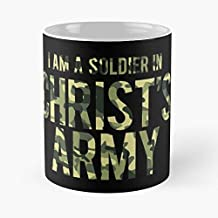 I Am A Soldier In Christ Army Classic Mug - The Funny Coffee Mugs For Halloween, Holiday, Christmas Party Decoration 11 Ounce White-ghospell.