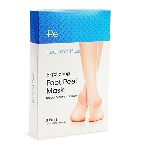Recuren Plus Foot Peel Mask For Baby Soft Feet Remove Calluses Dead Dry Skin No Salicylic Acid No Irritation 3 Packs