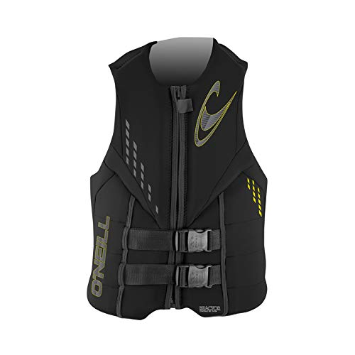 O';Neill Mens Reactor ISO Wassersport Wasserski Jetski Wakeboarden Safety Impact Vest - Top Black