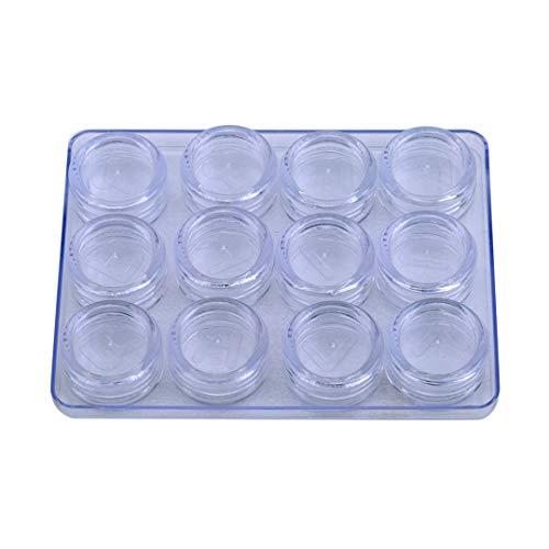 TXSD 12 Gitter Kontaktlinsenboxhalter Tragbare kleine durchsichtige Brillentasche Behälter Kontaktlinsen Aufbewahrungskoffer einweichen