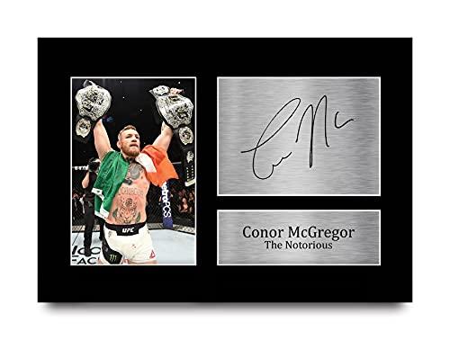 HWC Trading Conor Mcgregor A4 Sin Marco Regalo De Visualización De Fotos De Impresión De Imagen Impresa Autógrafo Firmado por Fans De UFC