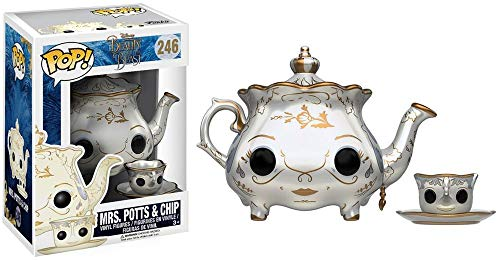Funko - Beauty & The Beast: Mrs. Potts & Chip Figurinas de Vinilo, Color Multicolor (Funko 12321)