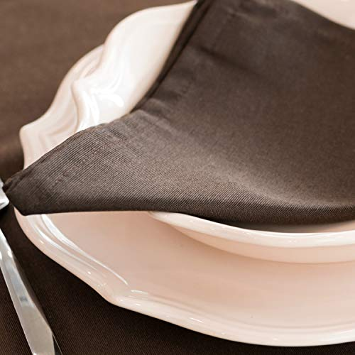 BgEUROPE - Tovaglioli di lusso, a tinta unita, anti macchia (6 tovaglioli, 45 x 45 cm)