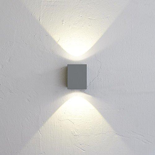 Licht-Trend Baleno Quadi LED Wand-Aussenleuchte Up&Down Grau Wandlampe