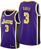 XUECHEN Ropa Jerseys de Baloncesto para Hombre, NBA Los Angeles Lakers # 3 Anthony Davis - Classic Comfort Chalecos Transpirables Camiseta Uniformes Deportivos Tops, Púrpura, L (175~180cm)
