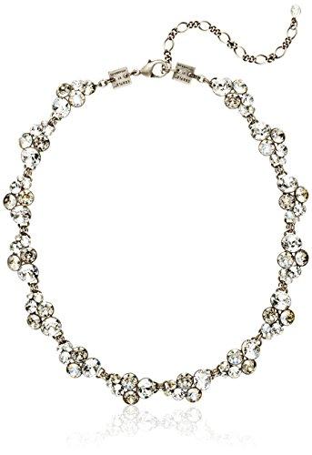 Konplott Damen-Collier Petit Glamour Silber Glas weiß 37 cm - 5450543269917