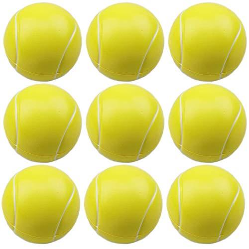 Gobesty Pelotas de Tenis de Espuma, 9 Piezas Pelota de Tenis de Esponja Pelotas de Rebote Pelota de Tenis de Espuma Deportiva para niños Adultos Niños