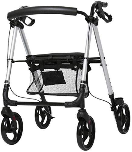 Standaard Walkers Walking Aid wandelstok Lichtgewicht Opvouwbare Trolley Rollator Walker Met Seat Compact Mobility Aid Voor Volwassene, Senior, Ouderen & Handicap Wandelen Frames