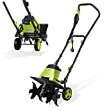 H.yeed Handy Electric Tiller - 1500W Powerful Garden Soil Cultivator/Rotavator with 6 Steel