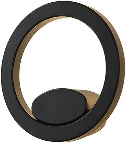 Special sale item Black Circle Outdoor Wall Lighting Boston Mall 14W Fixtures Out Aluminum LED