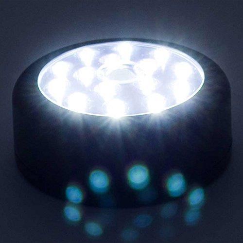 LED Nachtlicht mit Bewegungsmelder & Dämmerungssensor 15 LEDS batteriebetrieben | Schlummerlicht Notbeleuchtung Nachtlampe Stimmungslicht Sicherheitsbeleuchtung Treppenlicht Licht Notlicht Schlaflicht