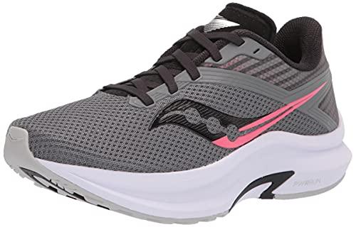 Saucony Women's Axon Road Running Shoe, Charcoal/Black, 7.5
