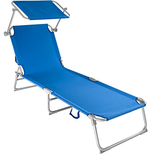 TecTake Cama Hamaca Tumbona Plegable con Parasol Playa Jard�