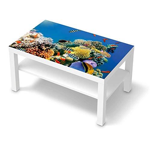 creatisto Wandtattoo Möbel passend für IKEA Lack Tisch 90x55 cm I Möbeldeko - Möbel-Sticker Aufkleber Folie I Innendekoration für Schlafzimmer und Wohnzimmer - Design: Coral Reef