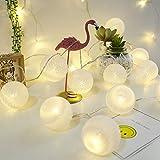 aiboria catena di luci a led,gomitoli di cotone illuminati a led con 20 batuffoli di cotone led condotto la luce della stringa 3 metri led stringa di luce cotone per decorazione interna (stile 3)