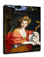 The Cum一種のe一種のn Sibyl にドメニキーノ 寝室の家の装飾、オフィスの装飾のためのキャンバスプリントギャラリーラップキャンバスウォールアート 35x46cm/14x18inch額入り