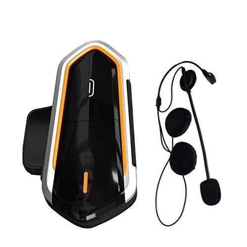 FJYDM Auricular Bluetooth para Casco De Motocicleta Auriculares De Comunicación De Motocicleta, Auriculares Inalámbricos con Intercomunicador para Bicicleta para Control De Llamad